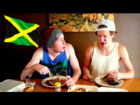 Eating Jamaican Food!