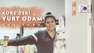 GÜNEY KORE'DEKİ YURT ODAM / ODA TURU Video