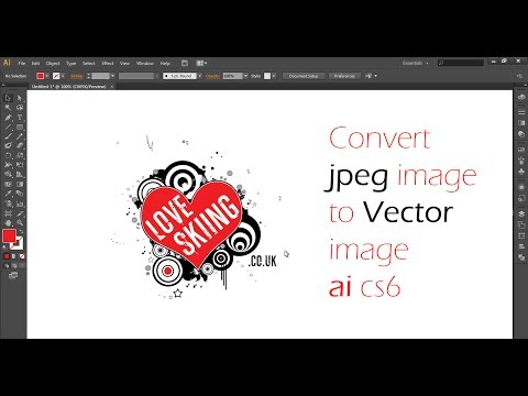 How to Convert A Jpeg Into Vector In Illustrator CS 6