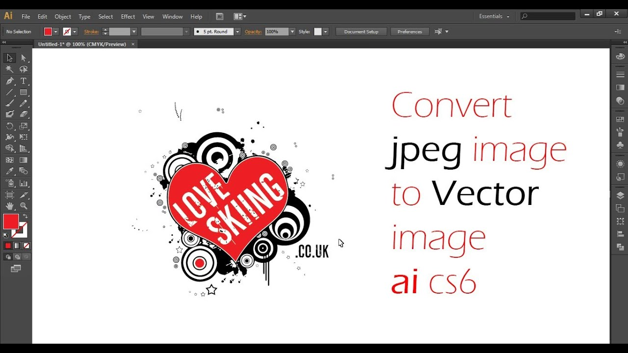 how to convert a jpeg into vector in illustrator cs 6 youtube
