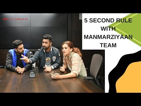 5 second rule with Abhishek Bachchan  Anurag Kashyap  Taapsee Pannu  Vicky Kaushal