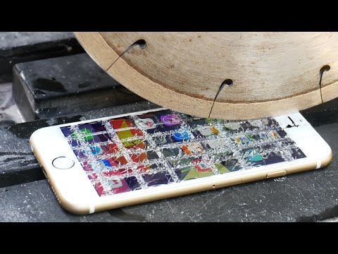 Can an iPhone 6S Survive a Diamond Blade?