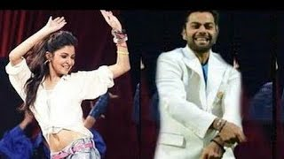 Virat Kohli Dance With Anushka | dance on reception ...Rajasthani Song Bhilwara Mil Gyi
