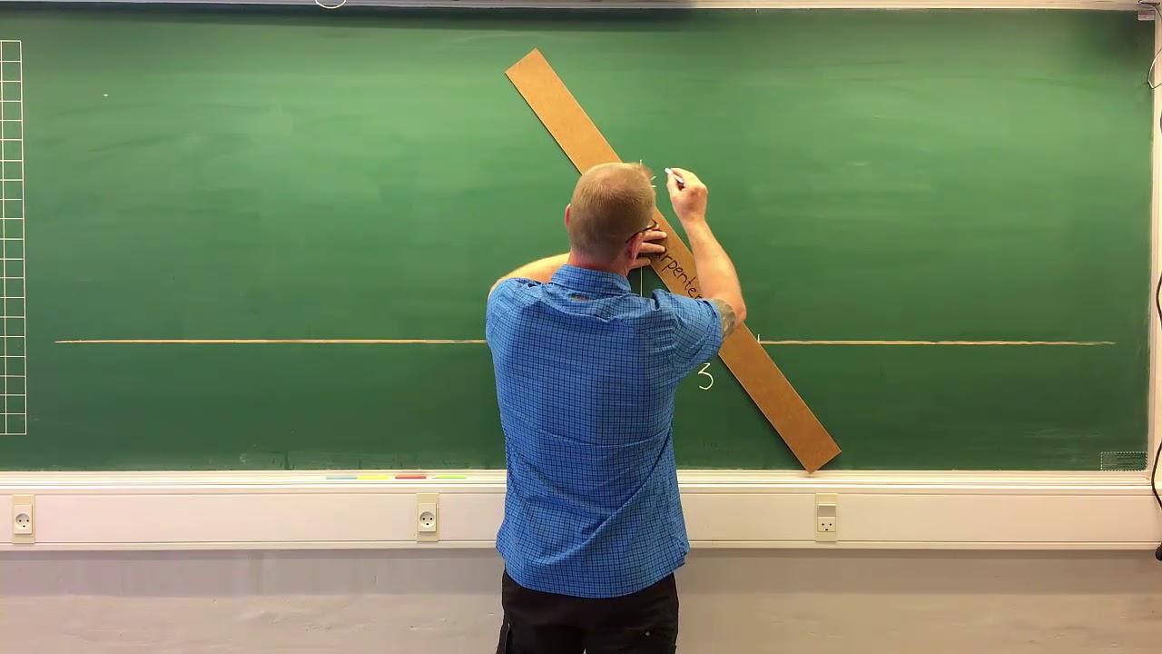 Oprette en vinkel med pythagoras 3-4-5