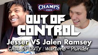 Jesser VS Jalen Ramsey in COD: Warzone -PLUNDER MODE | Out of Control | Champs Sports #outofcontrol