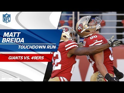 Matt Breida's Lightning-Fast TD Run vs. NY!   Giants vs. 49ers   NFL Wk 10 Highlights