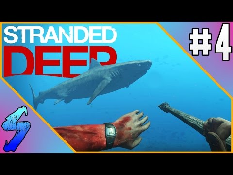 Stranded Deep Gameplay | SWIMMING WITH SHARKS!! | PART 4 (HD 60FPS)