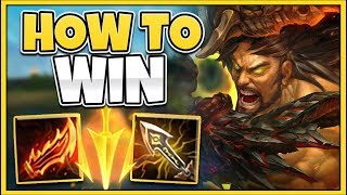 HOW TO WIN EVERY GAME AS TRYNDAMERE IN SEASON 9 (RANK 1 TRYND GUIDE) - League of Legends
