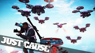 BIGGEST DRONE BATTLE IN JUST CAUSE 3! :: Just Cause 3 Funny Moments!