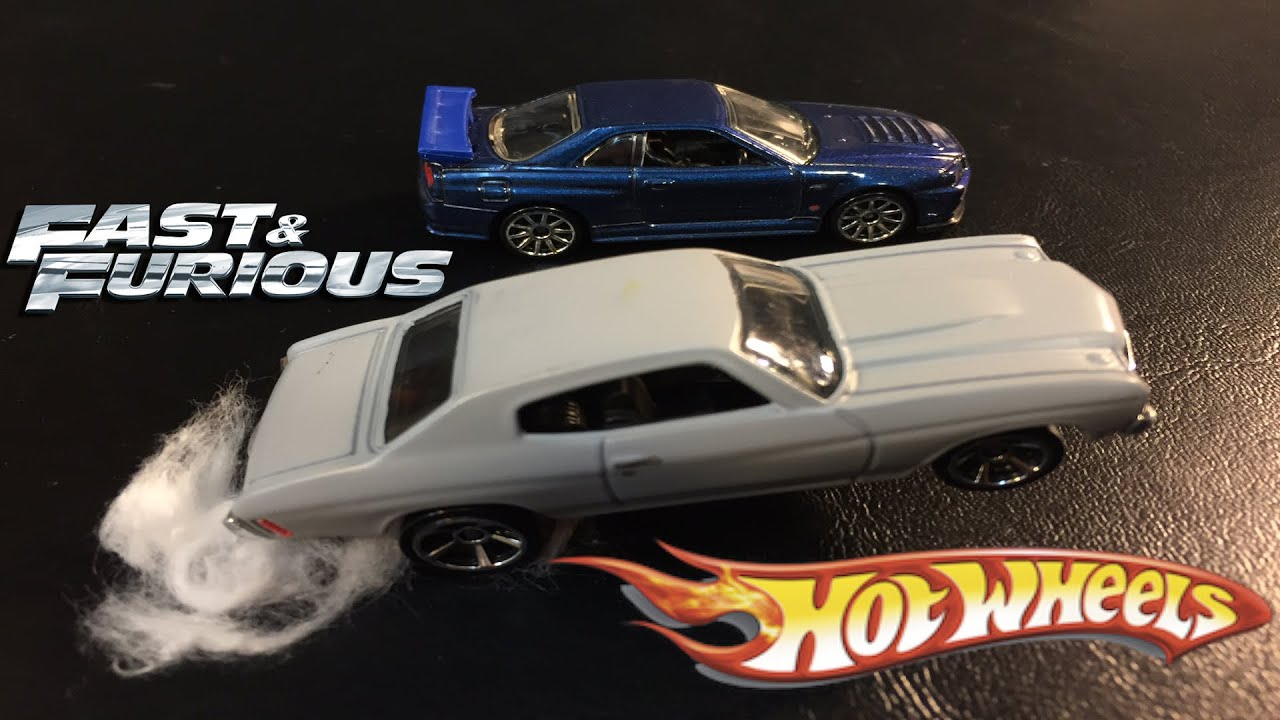 Wrx Sti Race >> Fast & Furious Race - Brian's Skyline GTR vs Dom's Chevelle SS - Hot Wheels Cars - YouTube