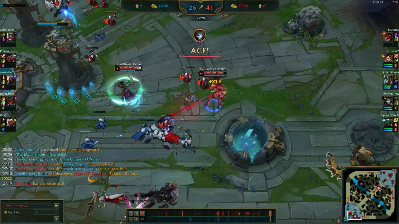 Jhin Pentakill at the end!