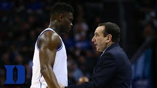 Coach K: Zion Williamson is One of a Kind