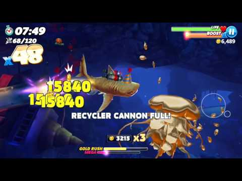 MEGA RUSH IN HARBOR MAP ! - Hungry Shark World