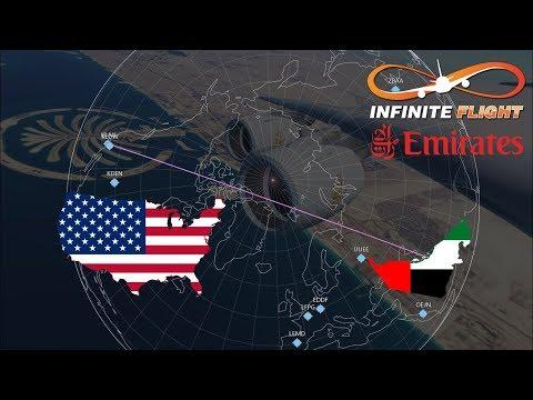 [ARCTIC ROUTE] Dubai (DXB) To Los Angeles (LAX)   TIMELAPSE   Emirates A380   Infinite Flight GLOBAL