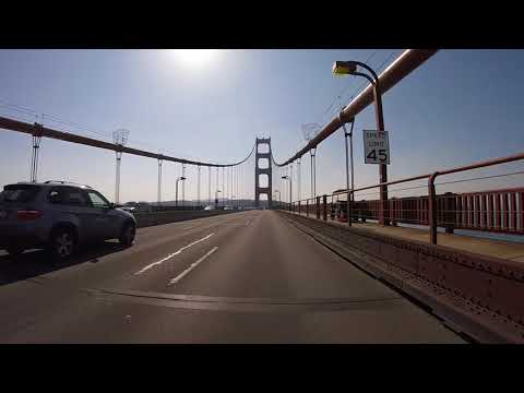 Driving the Golden Gate Bridge San Francisco Oct 2017 with GoPro Session 5 HD