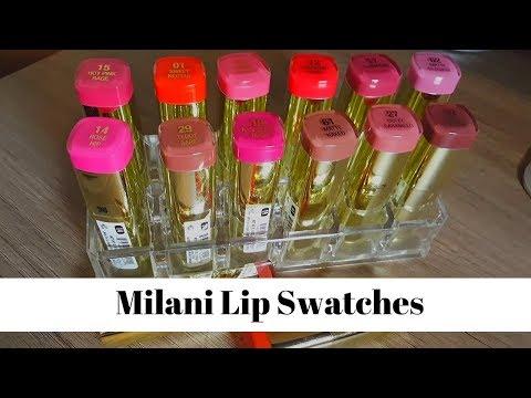 Milani Color Statement Lipstick | Lipstick swatches