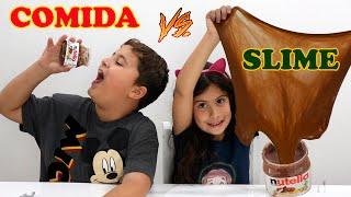COMIDA VS SLIME - SLIME VS  FOOD