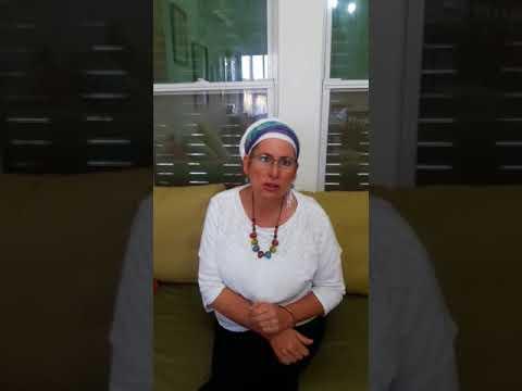 Mrs. Rina Ariel Explains protest (Media Resource Group)