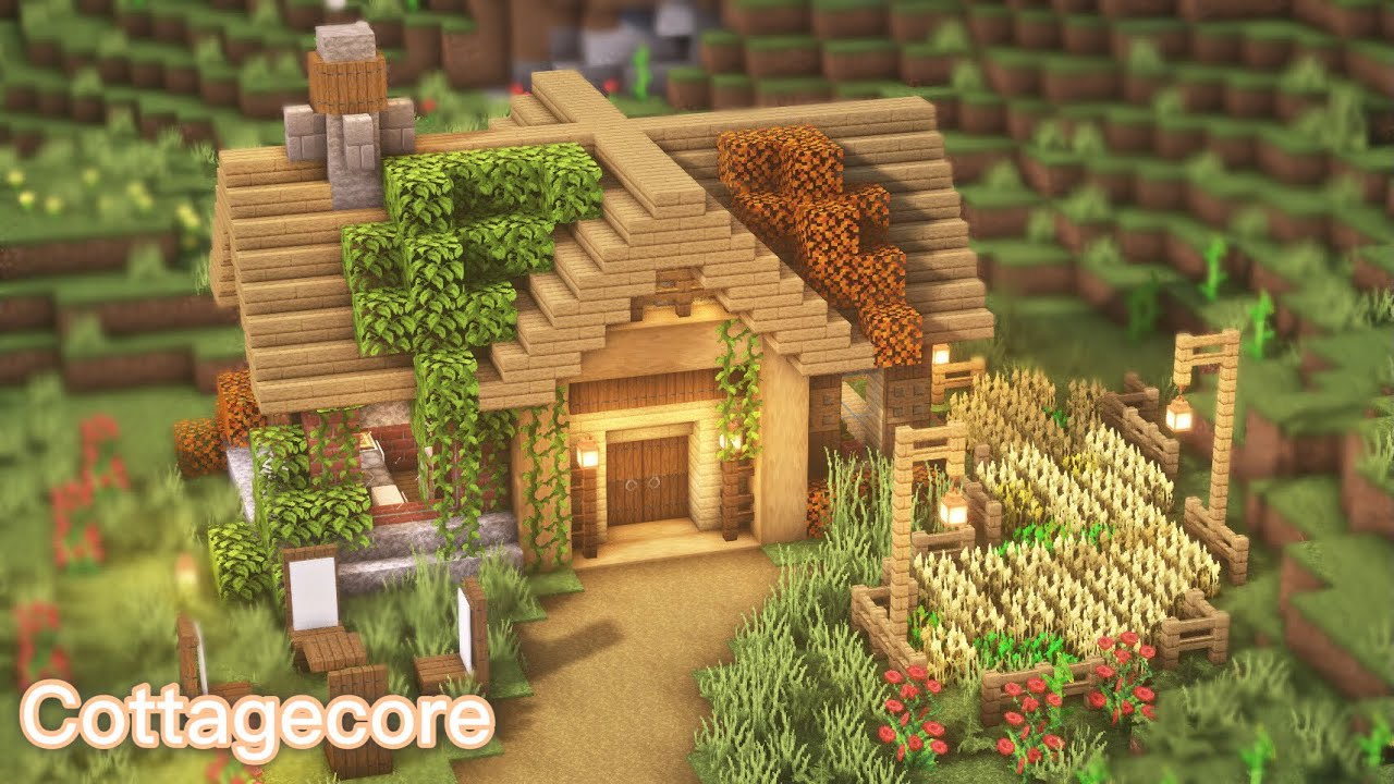 Minecraft How To Build A Cottagecore Cottage Youtube