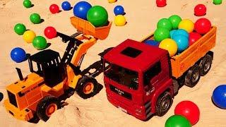 Обзоры игрушек: большие машинки Грузовик и Экскаватор - Распаковка!