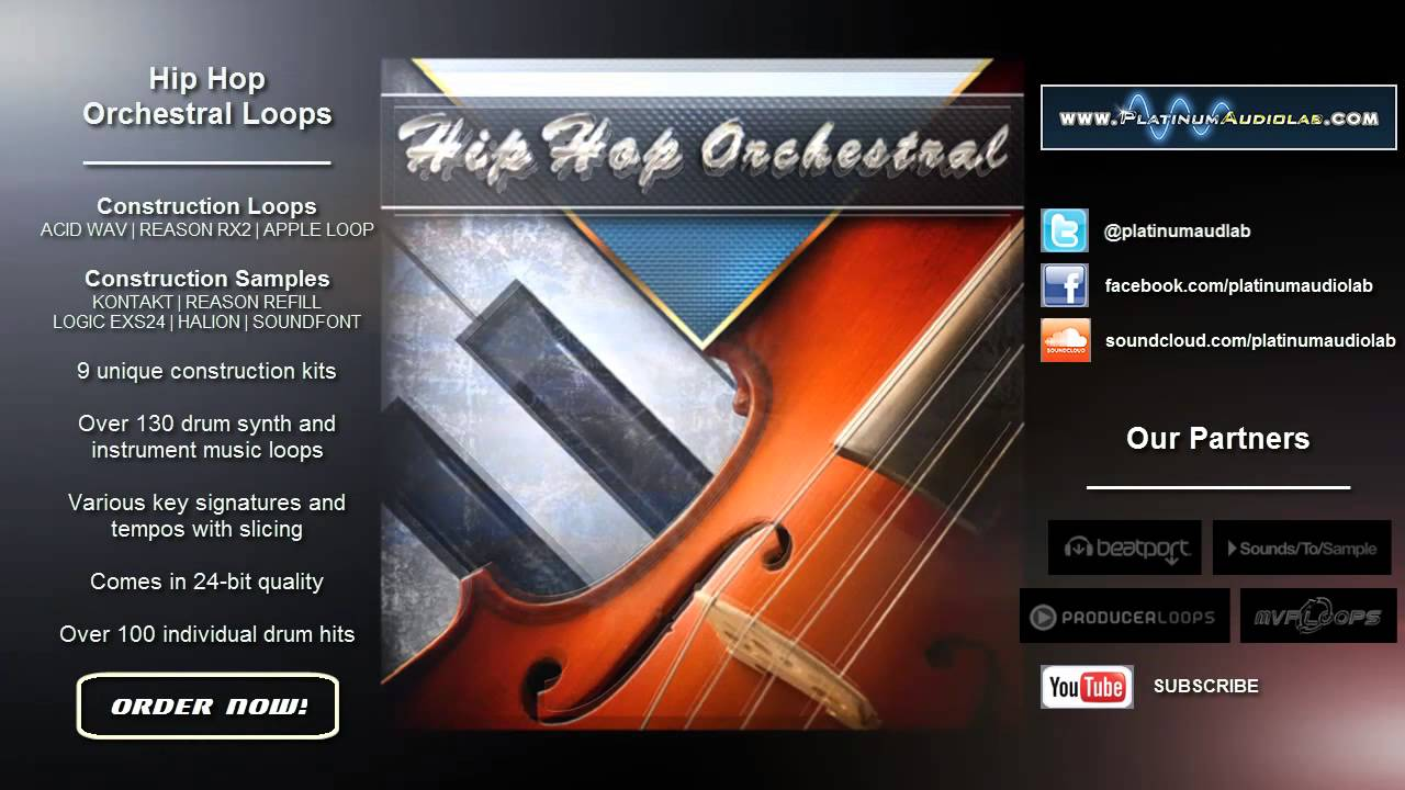 Hip Hop Orchestral Loops [SAMPLE LIBRARY] - YouTube
