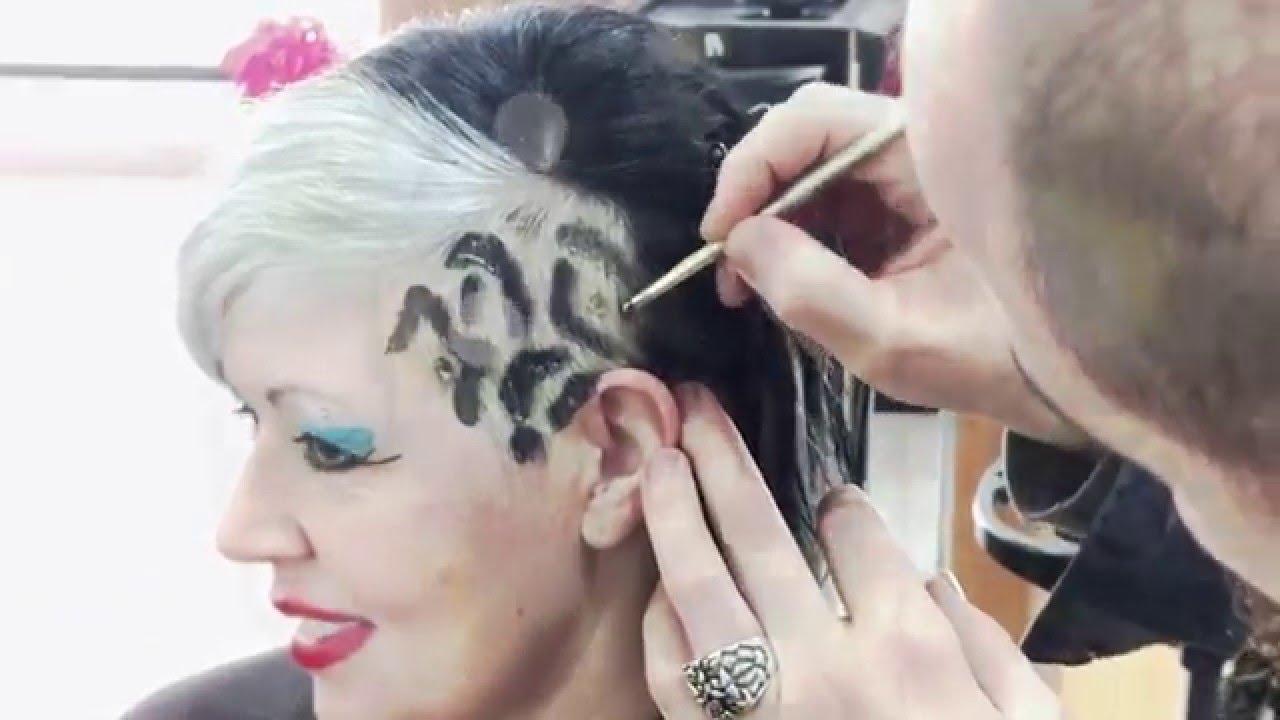 cmo hacer un peinado con estampado animal print leopard print hair color