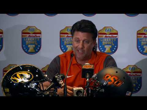 Liberty Bowl - Mike Gundy press conference