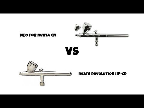 Iwata Revolution Vs Neo and painting lightning effect