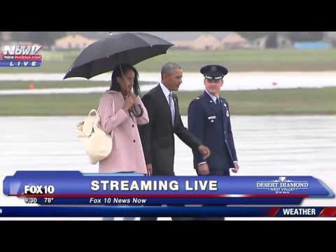 President Obama Doesn't Care About The Rain