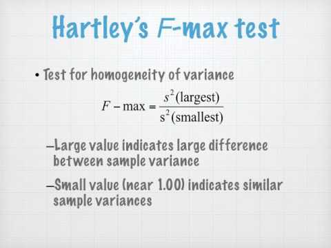 Independent Means t-tests:  Effect Size and F-Max