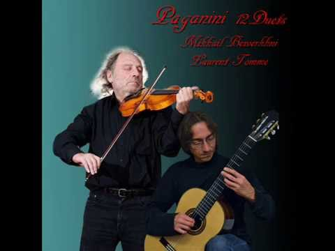 Niccolo Paganini: Twelve duets for violin and guitar. M. Bezverkhni (violin); L. Tomme (guitar).