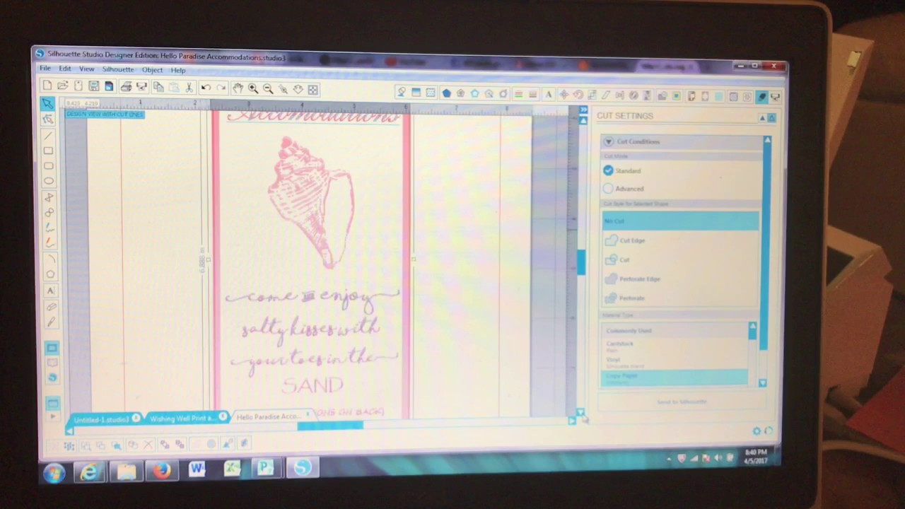 DIY Print and Cut wedding invitations tutorial using Silhouette ...