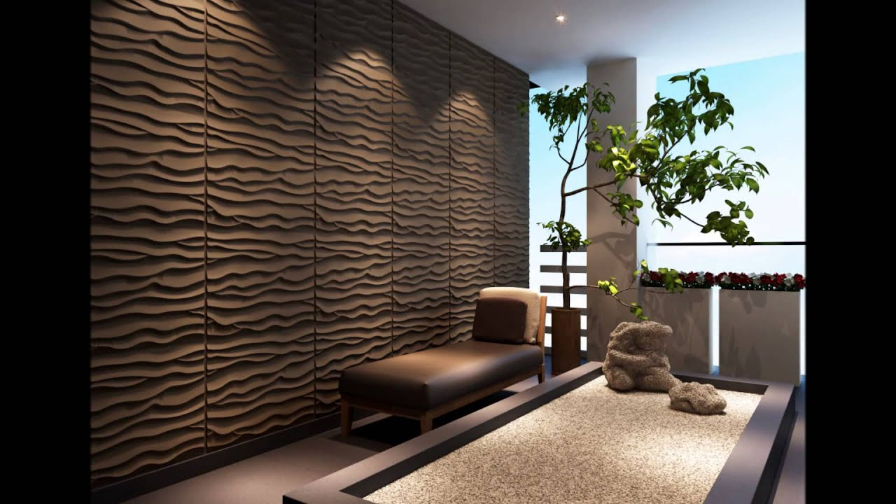 triwol 3d interior decorative wall panels wall art 3d wall panel designs youtube - Designer Wall Paneling