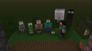 Monster School : MOMO HORROR CHALLENGE 1 and 2 - Minecraft Animation
