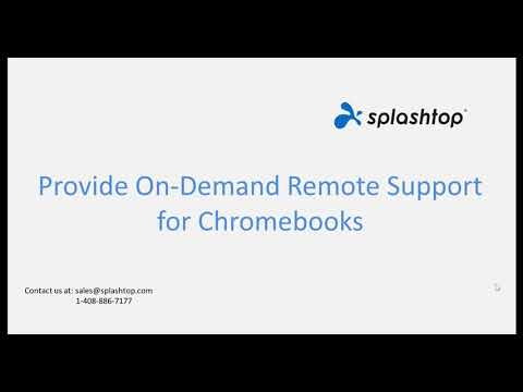 Remotely View and Provide Remote Support to Chromebooks