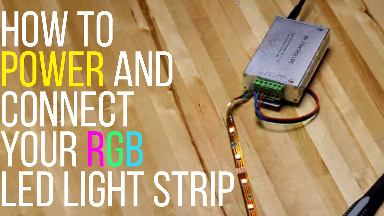 how to power and connect your rgb led light strip superbrightleds com [ 1280 x 720 Pixel ]