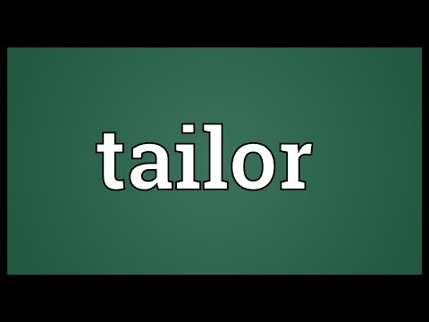 Tailor Meaning