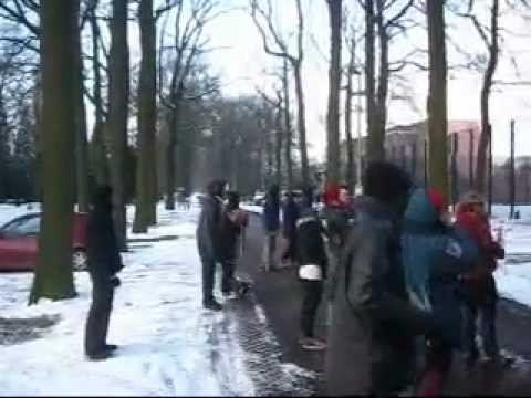 Occupy Rotterdam in action against deportations 5 feb 2012.wmv