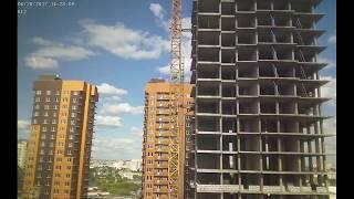 Строительство домов II очереди Квартала Европейский за июнь 2017г. (камера 1)