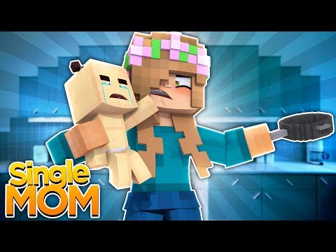 LITTLE KELLY IS A SINGLE MOM?! Minecraft Single Mom (CustomRoleplay)