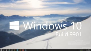 Windows 10 Build 9901 - Updated Taskbar UI / Modern Apps, Cortana + MORE