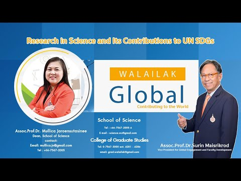 Walailak Global: Research in Science and Its Contributions to UN SDGs