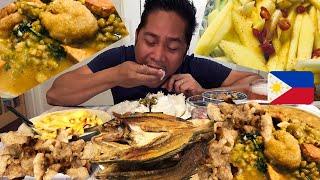 CHICHARON! MONGGO! PRITONG ISDA! MANGGA SALAD! MUKBANG. Filipino Food.