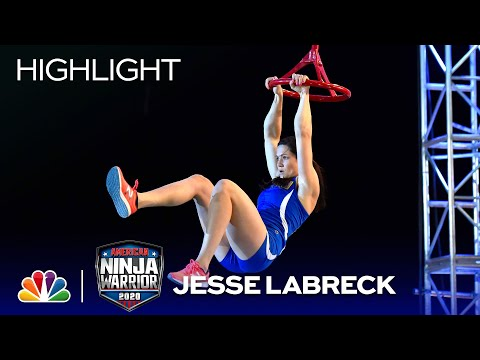Jesse Labreck Conquers Stage 1 - American Ninja Warrior: USA vs. The World