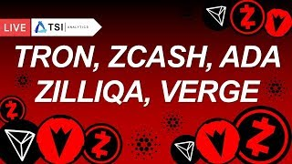 TRON, ZILLIQA, ZCASH, ADA, VERGE. Коррекция в разгаре | Прогноз цены на Трон, Кардано, Криптовалюты