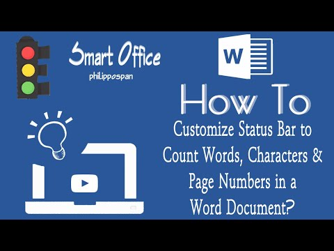 How To Customize Status Bar To Count Words, Characters & Page Numbers In A Word Document