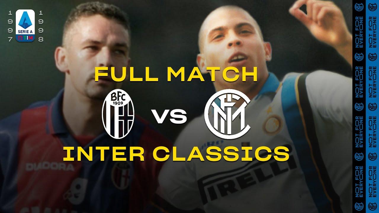 Inter Classics Full Match Bologna Vs Inter Baggio Vs Ronaldo 1997 98 Serie A Youtube