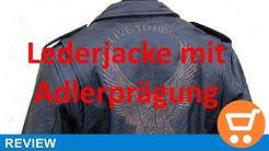 Lederjacke Leder Jacke für Biker Chopper Motorradjacke Motorrad Rocker Punk
