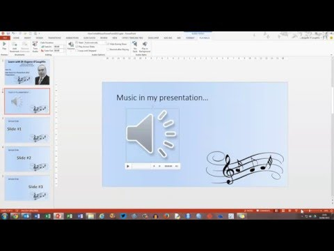 How To... Add Music to a PowerPoint 2013 Presentation