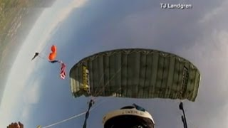 Skydiver's Terrifying Freefall Caught on Camera